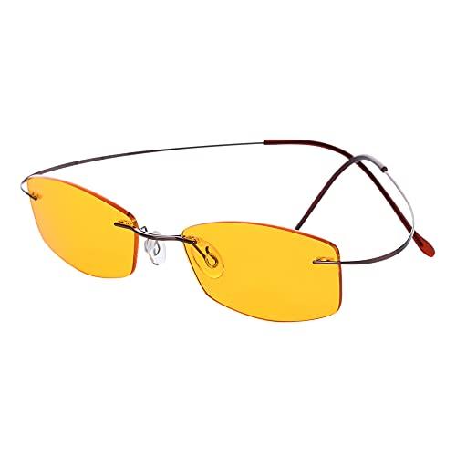 PRiSMA LiNDAU LiTE95 Blaulichtfilterbrille, Bildschirmbrille mit Blaulichtfilter für TV und PC, Computerbrille -L704