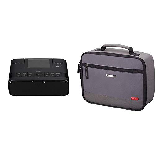 Canon Selphy CP1300 WLAN Foto-Drucker schwarz & DCC-CP2 Tragetasche für SELPHY Drucker grau