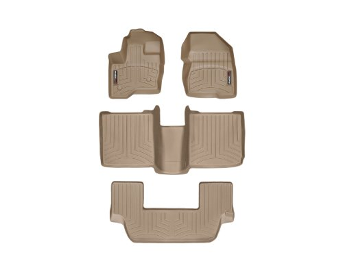 WeatherTech Custom Fit FloorLiner for Ford Flex -1st, 2nd, & 3rd Row (Tan)