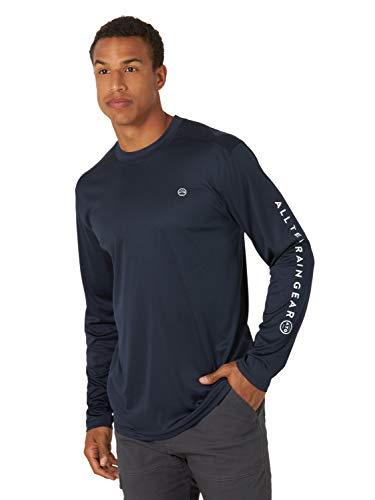 ATG by Wrangler Herren Long Sleeve Performance T-Shirt, Navy, 4X