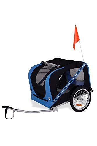 dibea PT10756, Remorque vélo pour Chien avec Attache et Ceinture de sécurité, Bleu/Noir