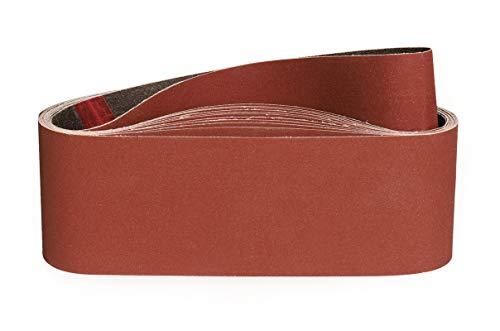 Bandas de Lija 75 x 533 mm-320 Granul 12 piezas,Bandas Para Lijadora Pared Para Madera Bandas Lijadora Metal-STEBRUAM