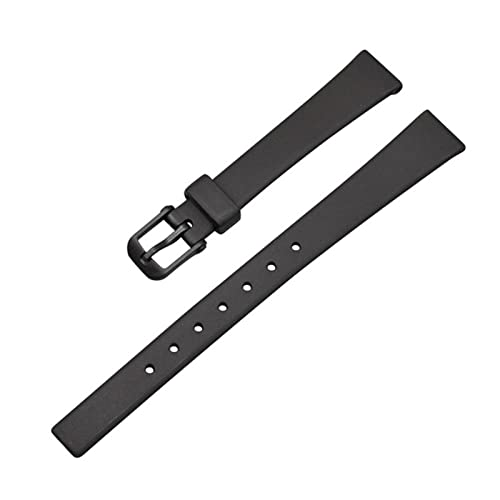 ZAALFC Correa de reloj inteligente resistente al agua elástica para LQ LQ-139 130/140 12mm Premium calidad negro caucho reemplazo correa