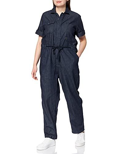 G-STAR RAW Army Short Sleeve Mono Largo, Azul (Rinsed C842-082), S para Mujer