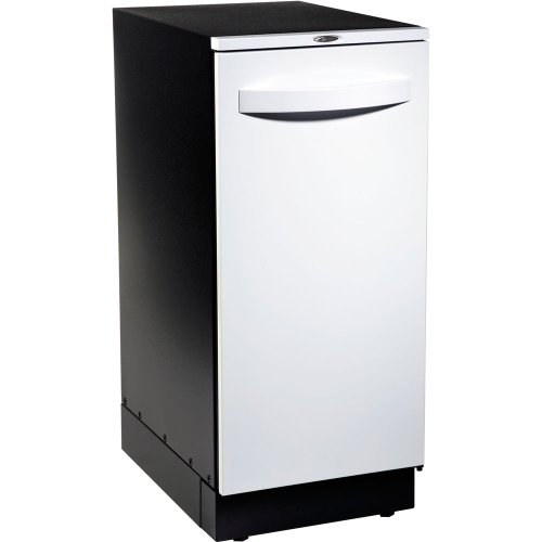 Broan 15WH Elite Trash Compactor with Storage Compartment and Odor Control System, 15-Inch, Flat White Door