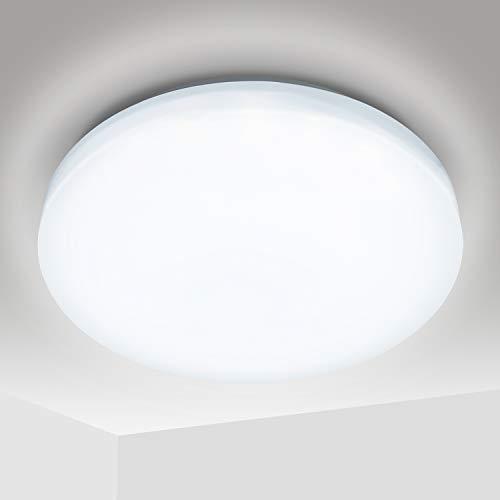 Hengda LED Deckenlampe 12 Watt Deckenleuchte 1080 Lumen Ø 26.5cm weiß für Schlafzimmer Wohnzimmer Kueche Badezimmer