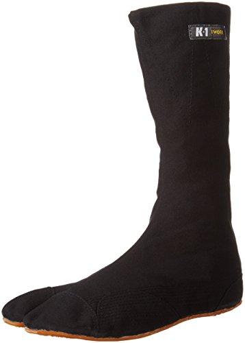 [ケイワーク] 地下足袋 K-1縫付たび 12枚コハゼ K1H12-NB-300 メンズ 黒 JP 30.0(30cm)