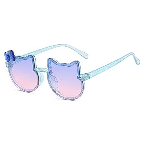 YCHH Nuevo TIENDIENDA NIÑOS Gafas de Sol Linda Gato Chicas niños Gafas de Sol de Colores Lentes de Colores Bebé Bebé Pink Pink Vogue Glasses Butterfly (Color : 1)