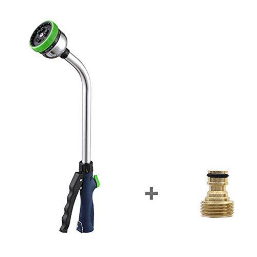 Garden Long Rod Waterpistool Spuitpistool Irrigatie-tool Auto 9 In1 Douchekop Planten Water Geven Sprinklers Toepasselijk DN15-DN25 Slang - Zwart (Color : 2)