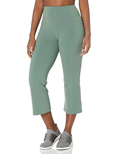 Skechers Women's Go Walk GoFlex High Waisted Crop Pant Pantis, Verde Claro, M para Mujer