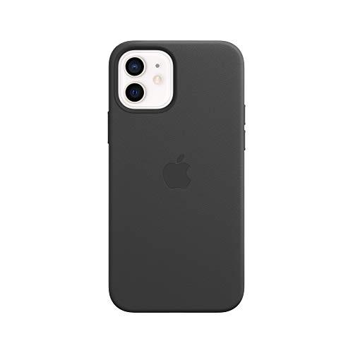 Apple Leder Hülle mit MagSafe (für iPhone 12 | 12 Pro) - Schwarz