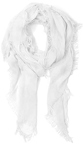 sciarpa bianca JOPHY & CO. Sciarpa Donna Elegante Leggera MADE IN ITALY Morbida a Stola Rettangolare in Fibra di Eucalipto a Tinta Unita o Fantasia Colori (Bianco)