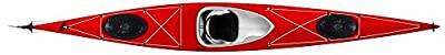 167 Tahe Marine Fit Composite Sit-In Flatwater Day Touring Kayak, White/Red, 16.58-Feet by Kayak Distribution