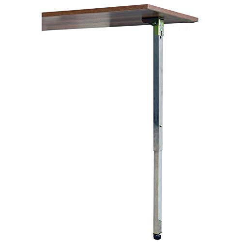 Furniture Legs X1, Metal Folding Telescopic Legs, Adjustable Table Legs Silver Rectangular Replacement Feet Height 65~125cm