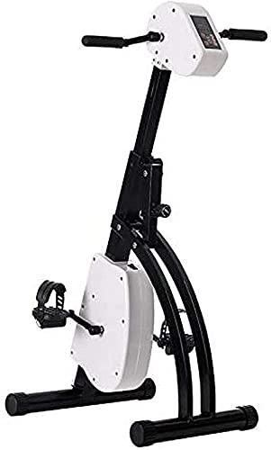 ZHZHUANG Mini Pedal Folleable Ejercicio Bici Compacto Brazo Portátil/Ejercicio de la Pierna en el Ciclo de Escritorio con Amplificador de Pantalla Lcd; Resistencia Ajustable - Ideal para Rehabilita