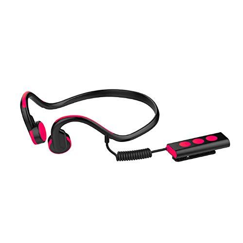 YPJKHM Auriculares Bluetooth Estéreo Auriculares Estéreos Delgados para Coche, Montados en la Parte Trasera, Auriculares Deportivos Inteligentes Bluetooth para Deportes al Aire Libre-Red