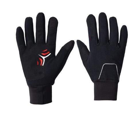 Guantes de Bicicleta de montaña de Carretera espesados Reflectantes con Pantalla táctil de Dedo Completo para Hombres y Mujeres Impermeables en Invierno - Negro, XL