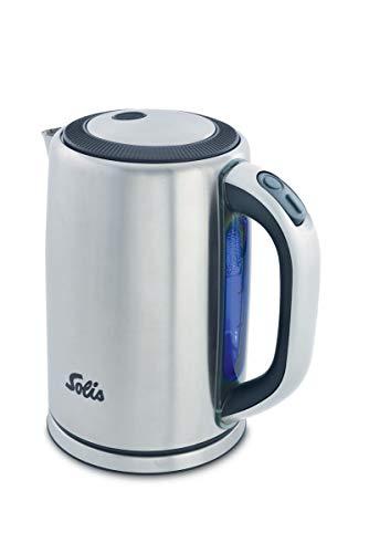 Solis Wasserkocher, Herausnehmbarer Kalkfilter, 1,5 l, Edelstahl, Premium Kettle (Typ 5511)