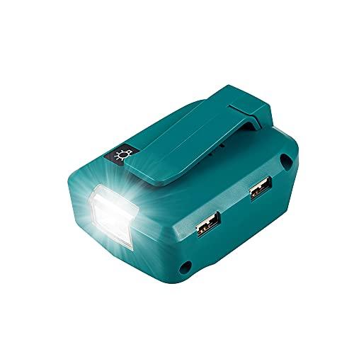 ADP05 マキタバッテリー USB変換器 アダプター スマホ 充電器 モバイルバッテリー 互換品 USB ADP05 LED ライト付き マキタ14.4V /18V バッテリー 対応 USB端子/2ポート 本体のみ 夜間仕事 災害 応急照明
