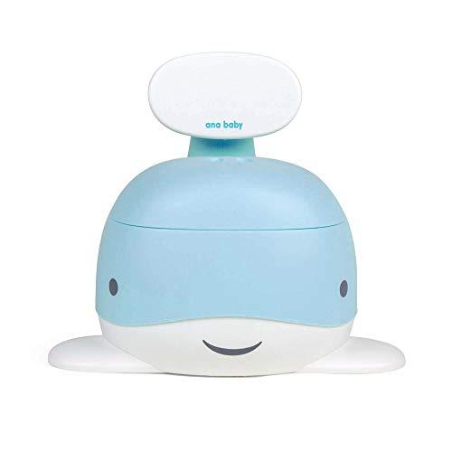 Ana Baby Whale Pot d'apprentissage avec Dossier et Bol Amovible Bleu