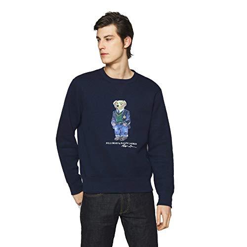 Polo Ralph Lauren Sudadera para Hombre con Polo Bear (L, Cruise Navy)