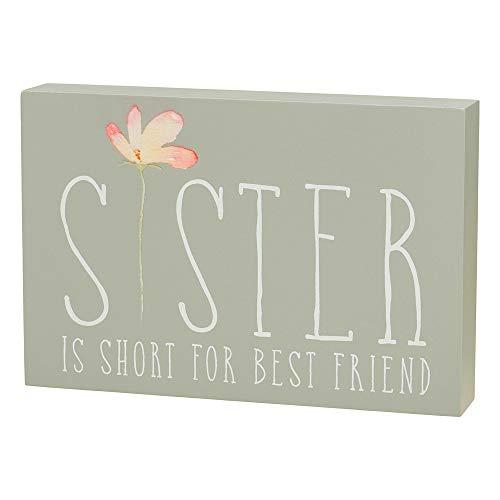 Collins 'Sister is Short for Best Friend' - Señal de madera con texto en inglés
