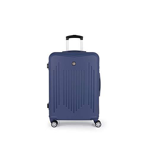 Gabol - Clever | Maletas de Viaje Medianas Rigidas de 46 x 66 x 25 cm con Capacidad para 61 L de Color Azul