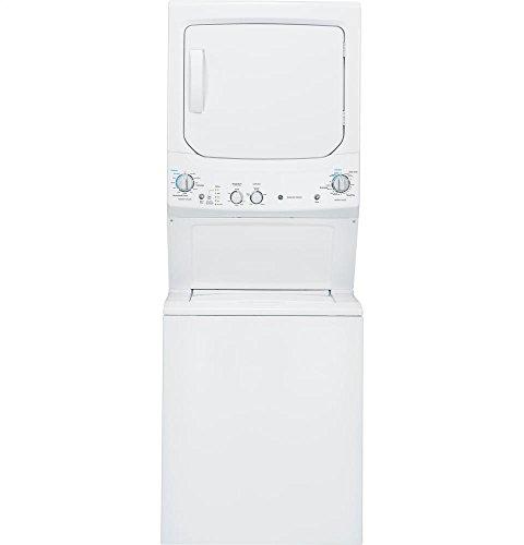 GE GUD27GSSJWW Spacemaker 9.1 Cu. Ft. White Gas Laundry Center