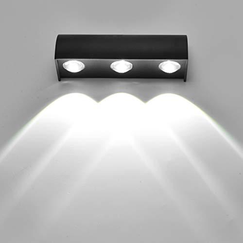 SISVIV 9W Led Wandleuchte Wasserdicht IP65 Wandlampe Moderne Up und Down Wandleuchten für Wohnzimmer Schlafzimmmer Flur Garten
