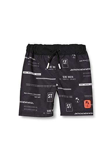 NAME IT Jungen NKMZAKOBS Long Shorts Badehose, Black, 134