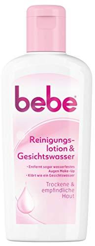 bebe Reinigungslotion & Gesichtswasser - Sanfte Gesichtsreinigung für empfindliche & trockene Haut - 1 x 200ml
