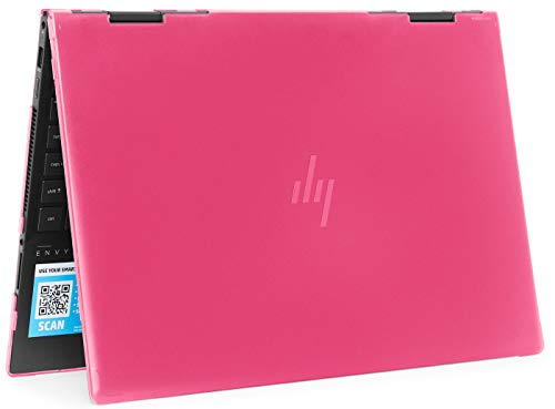 mCover Hard Shell Case for 2019 15.6' HP Envy X360 15-DSxxxx / 15-DRxxxx Series (NOT Compatible with X360 15-AQxxx / 15-BPxxx and Other Series) (Pink)