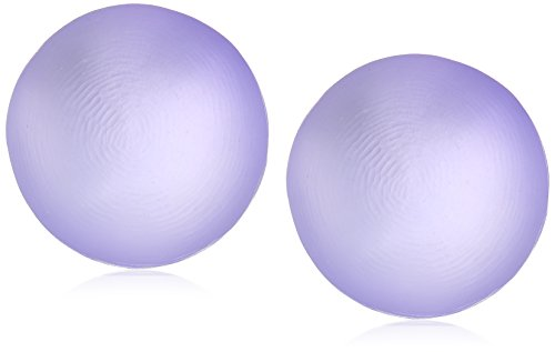 Alexis Bittar Medium Dome Clip Stud Earrings, Lilac, One Size