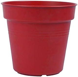 اصيص زرع دائري بلاستيك من مينترا - 17 سم، احمر