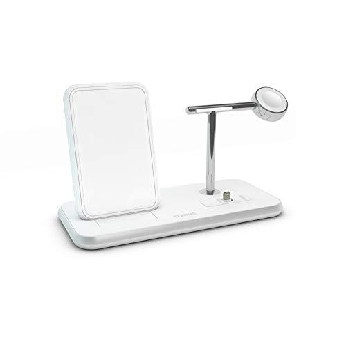 ZENS Aluminium Stand + Apple Watch + Dock Qi weiß, ZEDC07W