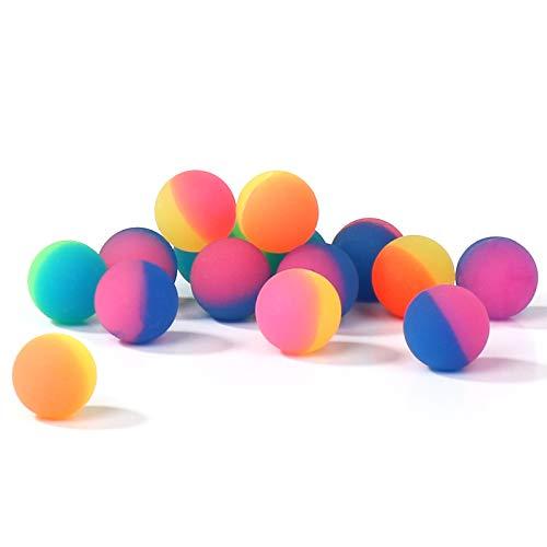WELLGRO Flummi Frost Ø 24 mm - Bunte Flummis, Springball, Mitgebsel, Tombola - Menge wählbar, Stückzahl:15 Stück