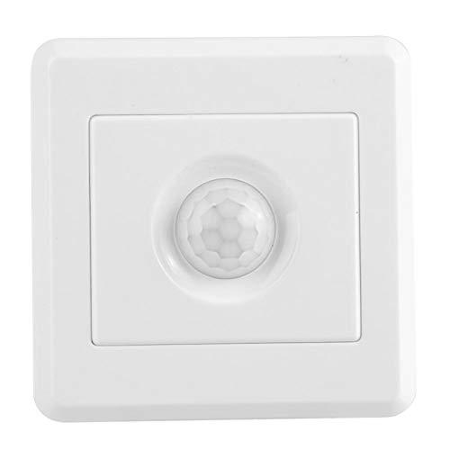 Interruptor De Sensor PIR, Tecnología De Infrarrojos Fácil Instalación Interruptor De Luz Seguro Y Que Ahorra Energía Retardo Aleatorio Para Bombilla LED Para Lámpara Incandescente