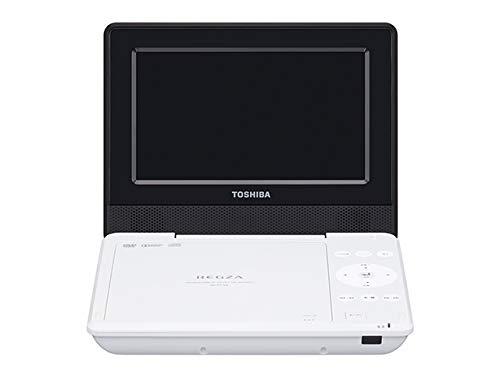 東芝 7型ポータブルDVDプレーヤーホワイトCPRM対応TOSHIBA REGZA レグザポータブルプレーヤー SD-P710SW