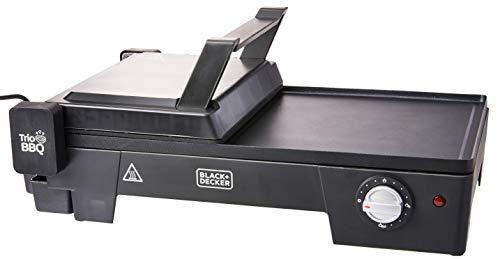 BLACK+DECKER Grill Elétrico 3 em 1 com Abertura 180° Preto G2200-B2