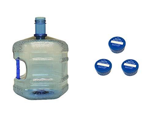 WB-007取っ手付きウォーターサーバー用ガロンボトル容器 シンプルスクリューキャップ3個付き(繰り返し使用可能)