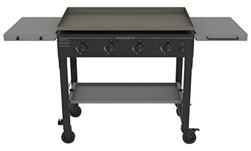 Megamaster 720-0786F 4-Burner Griddle Gas Grill, Black