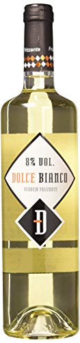 Vino Blanco Frizzante Dolce Bianco - 6 Botellas de 750 ml (Total 4.5 L) BODEGA CUATRO RAYAS