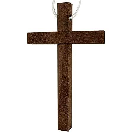 Croce in Legno con Laccetto Prima Comunione Artigianale