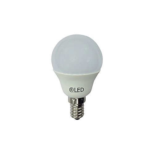RLED 10-206-14-281 - Pack de 10 ampoules LED sphériques, 6W, douille E14, lumière chaude, 2700º K