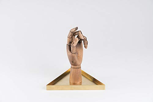 DOIY Design DYHANDGOL The Hand Dark Wood Porte-Bijoux, Bois, Multicolore, 23,5 x 9,5 x 21 cm