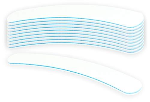 10 Stück Profifeile weiss gebogen Bananenfeile Körnung 180/240 - Kernfarbe Blau