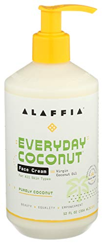 Alaffia EveryDay Coconut Night Cream. Moisturizing Support to Restore Firm, Youthful Skin and Reduce Wrinkles for Normal to Dry Skin (Purely Coconut) 12 Oz