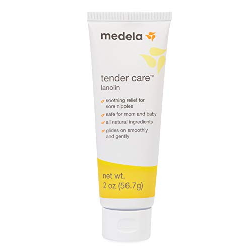 Medela Tender Care Lanolin Nipple Cream for Breastfeeding, All Natural Hypoallergenic, Soothing Protection and Safe for Mom and Baby, 2 Ounce Tube