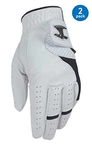 Dega Herren Golfhandschuh, 100 % Cabretta-Leder, für die linke Hand, weicher Griff, Größe M, 2 Stück