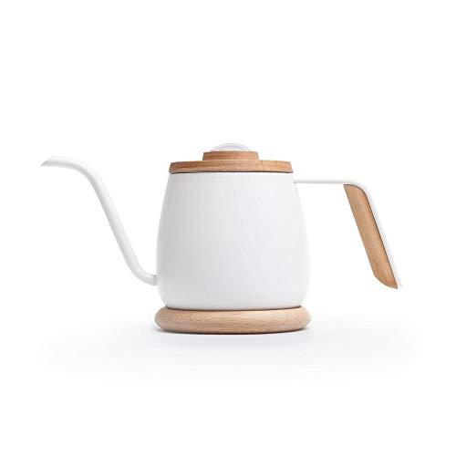 SimpleReal TAMAGO 細口ミニコーヒードリップケトル.温度計付きで 軽量 電磁調理器対応.お茶対応.ホワイト 350mL